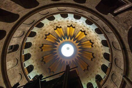 Jerusalem, Israel - February 15, 2013: Church of the Holy Sepulchre interior