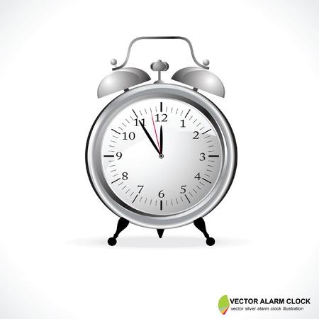 clock hands: Vector Illustration of an Analog Alarm Clock Illustration