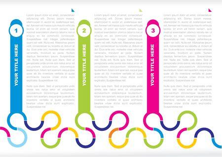 color background for a poster or brochure Illustration