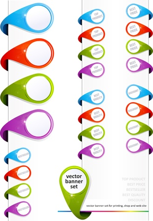 Banners set for printing, shop and website Stock Vector - 10599591