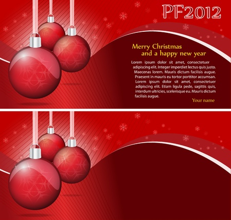 Crimson Christmas Background With Place For Text Illustration