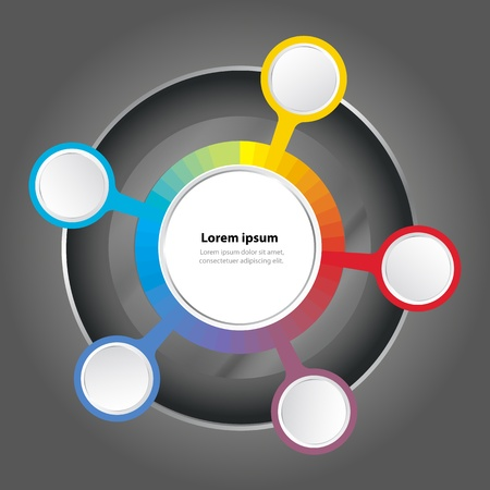graph color spectrum background for text Vector