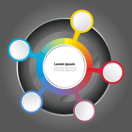 gamut: graph color spectrum background for text Illustration