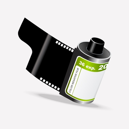 Unused Roll of Camera Film  Vector