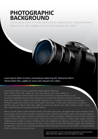 photography: Hintergrund mit der Kamera und Platz f�r Text
