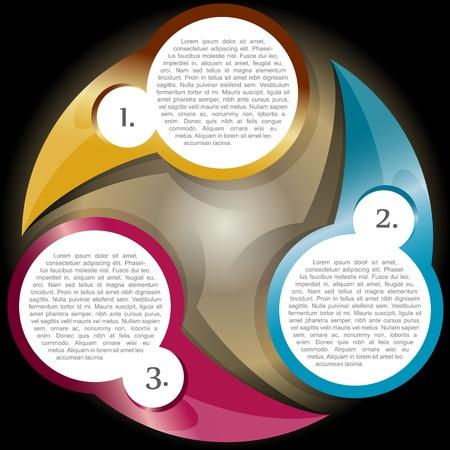 procedure: Vector schema colore di sfondo con tre livelli per il testo