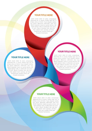Vector brochure background design concept for four texts Vector