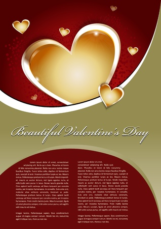 romantic background: Beautiful Valentines Day Background With heart
