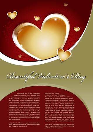 flyer background: Mooie Valentines Day achtergrond met hart