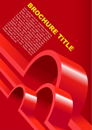 Red Background For Poster or Brochure Vector