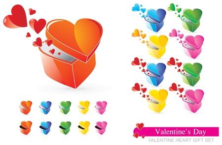 Color Valentine Gift Illustration  Vector