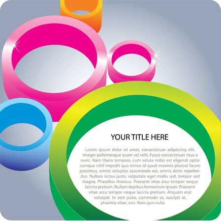 fro: 3D Color Circles Background Fro Poster And Brochure