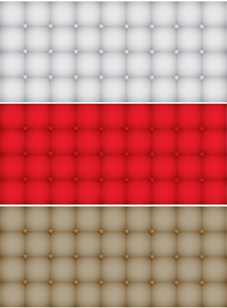 Three Vector Realistic Upholstery Texture Vector