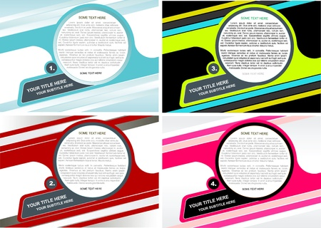 Four Vector Background For Poster, Brochure, Catalog Or Flyer Vector