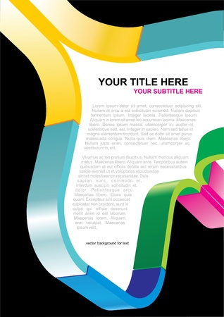 Abstract Vector Poster Or Brochure Background For Text  Vector
