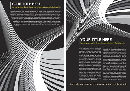 Abstract Vector Black And White Background Brochure Concept Vector