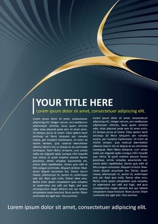 Dark Vector Brochure and Poster Background with gold elements Vector