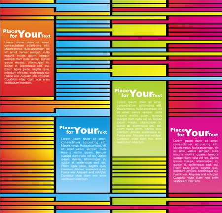 Vector Colorful striped retro background for text Vector