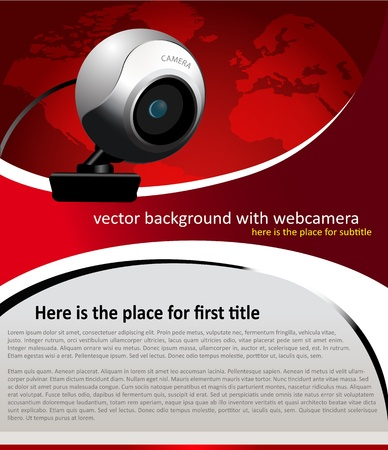 vector background with web camera for text Vector