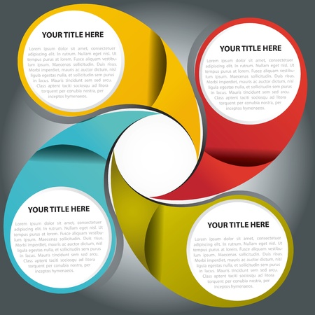 Vector fan graph background for text Vector