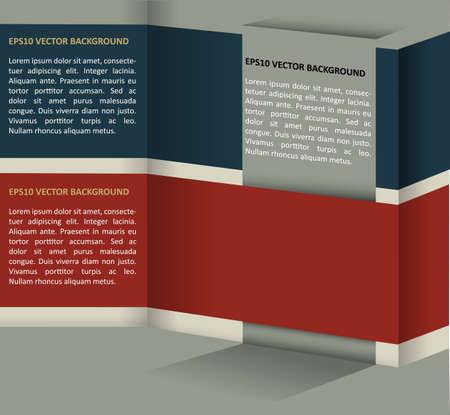 Vector abstract retro backgraund for text Ilustração