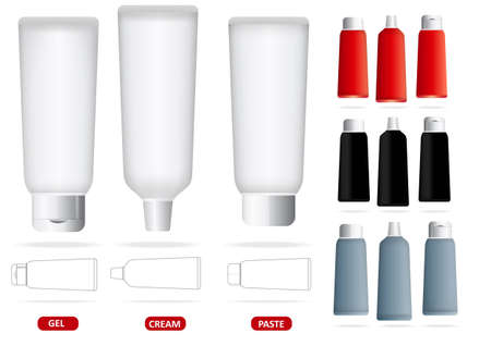 Vector set of empty illustrated tubes Vector