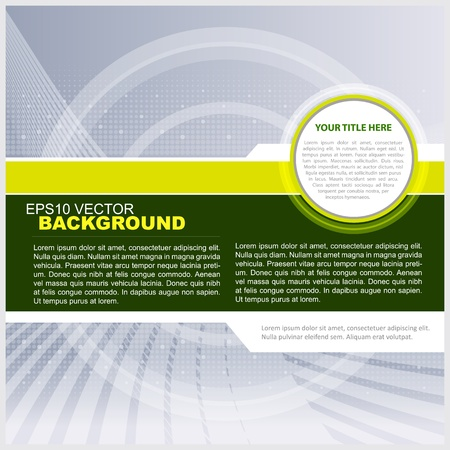 Vector Green Technical background for text Vector
