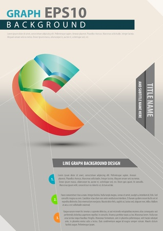 Vector business background with color 3D graph Vector