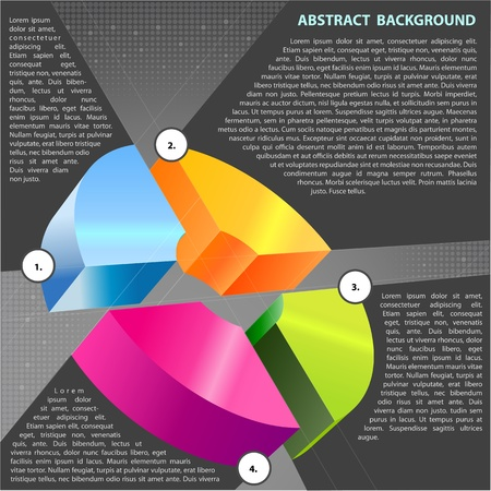 Abstract vector background with cross graph for text