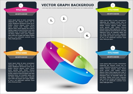 describe: Vector business background sectional chart to describe