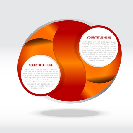 Abstract orange vector background for two texts Stock Vector - 13335108