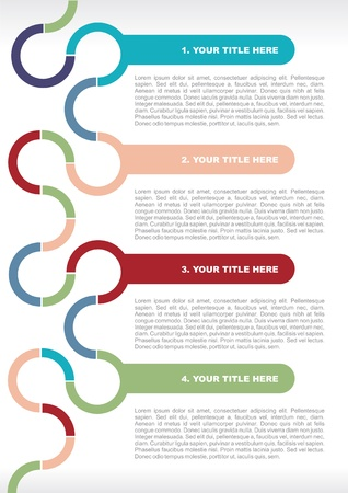 Abstract vector retro brochure background for text Vector