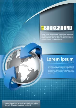 folleto: Fondo abstracto con los continentes de folletos