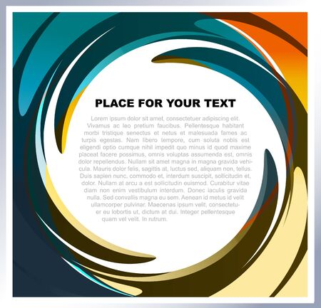 Abstract vector background with colorful swirl for text Stock Vector - 13832123