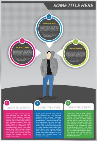 esquemas: Resumen de antecedentes con el hombre y la burbuja de texto
