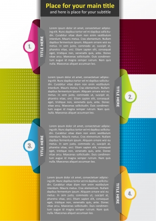 Abstract background concept for brochure or poster with four tabs Vector