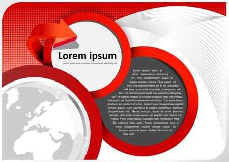 catalogue: brochure background with abstract globe