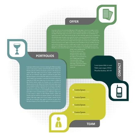 folleto: color de fondo concepto de dise�o para el folleto o sitio web Vectores