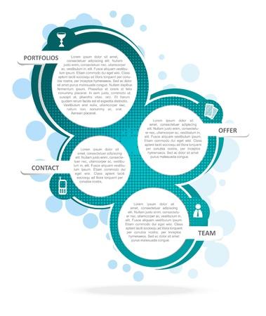 チラシ: パンフレットやウェブサイトのための背景のコンセプト デザイン