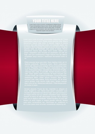 Abstract  brochure or poster background with table for text Vector