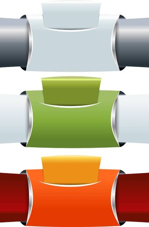 Set of three abstract banners background for brochure or website Vector