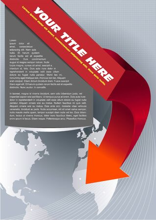 spedition: Abstract brochure background with globe and arrow Illustration