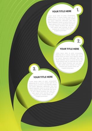catalog: Fondo verde abstracto de folleto o p�ster Vectores