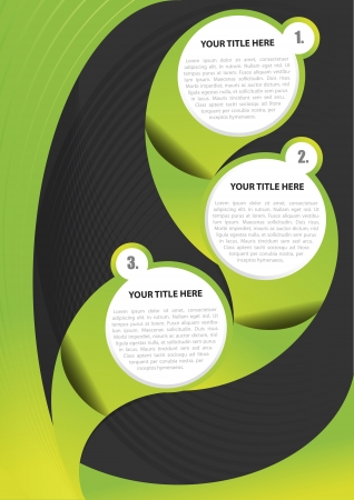 Green abstract background for brochure or poster