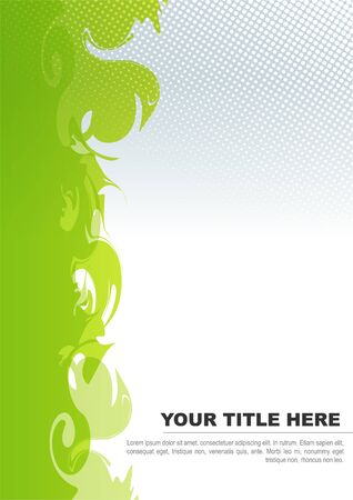 brochure background with green abstract shapes  Stock Vector - 15821949