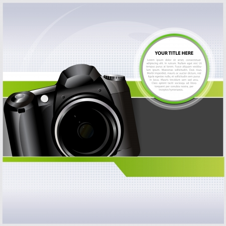 catalogue: Abstract background with digital camera for text