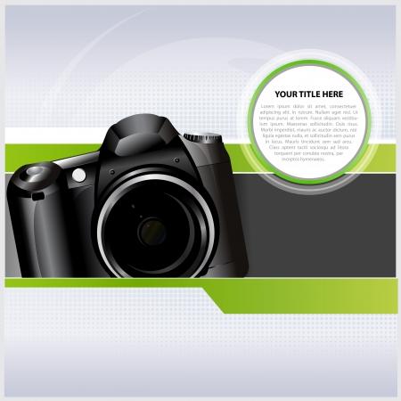 Abstracte achtergrond met digitale camera voor tekst Vector Illustratie