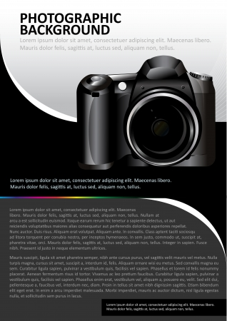 abstract background for brochure or poster with the camera  Vector