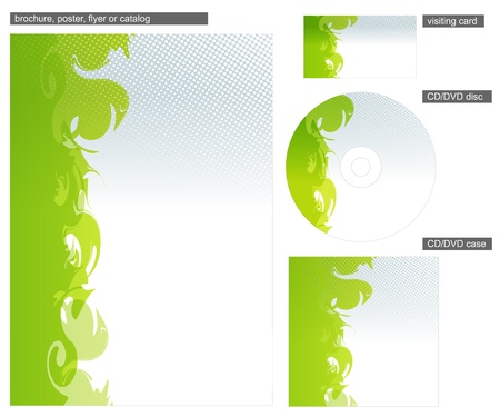 Abstract green corporate identity design Vector