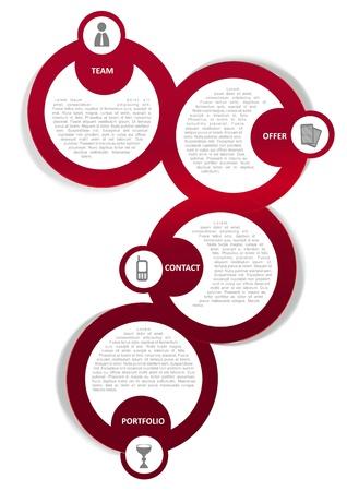 crimson colour: Vector color background concept design for brochure or website